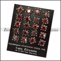 Clear Ruby Zircon Stud Earring e001245