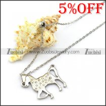 Stainless Steel Horse Chain Necklace n001337