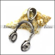 Stainless Steel Headphone Pendant for Music Lovers p007180