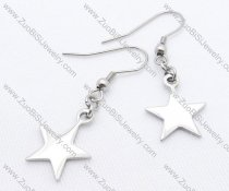 Big Silver Star Stainless Steel earring - JE050118