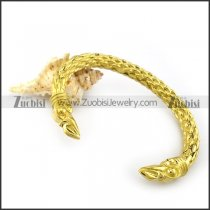 shiny yellow gold plating brass raven bangle b005503