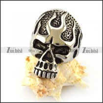 vintage flame fire skull ring for bikers r004821