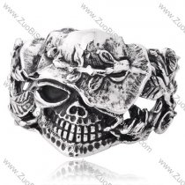 Rose Skull Stainless Steel Bangles - JB350029