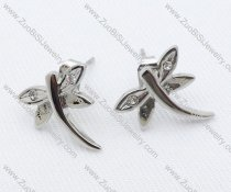 Silver Dragonfly Stainless Steel earring - JE050017