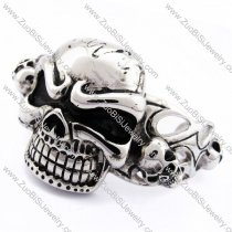 Solid Skull Bangle for mens -JB170090