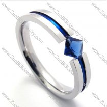 Blue Zircon Stone Wedding Ring in Wholesale -JR430001