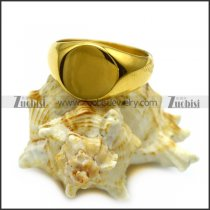 yellow gold plating blank signet ring r005407