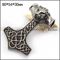 80mm Large Lion Hammer Pendant p003750