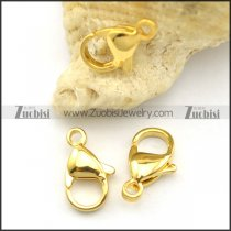 12mm Gold Stainless Steel Lobster Clasps a000032