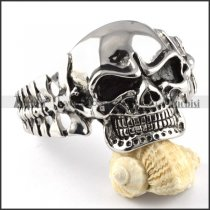 Powerful Stainless Steel Skull Bangle for strong mens - b000094