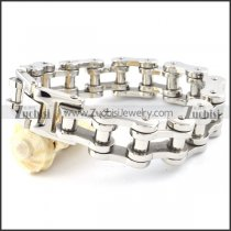 Silver Stainless Steel Chain Bracelet for bikers - b000357