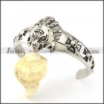 Stainless Steel wild man Skull Bangle -b000860