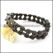 14mm Black Motorcycle Biker Chain Bracelet for Bikers -b000947