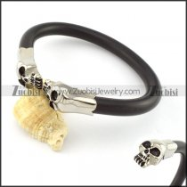 Stainless Steel Skull Bangle -b000868