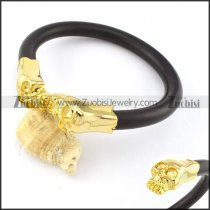 Stainless Steel Skull Bangle -b000869