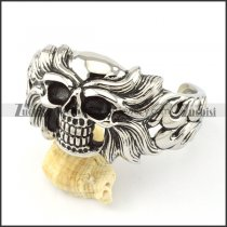 Stainless Steel Skull Bangle -b000859