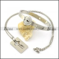 couples jewelry of heart bangle and key pendnt chain for couples from TVB hot play -b001362