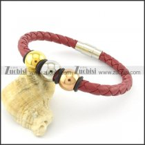 21*0.6cm red leather bracelets b001618
