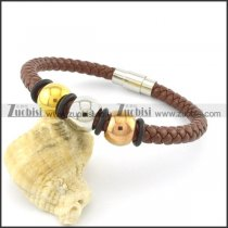 lengt of 21cm leather bracelets b001617
