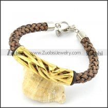 braided leather bracelet with OT buckle b001853