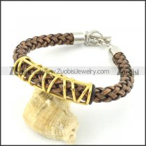 braided leather bracelet with OT buckle b001837