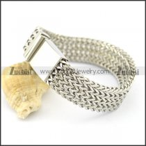4 layers square chain bracelet with 16mm wide casting buckle b002233