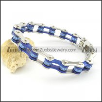 Blue and Steel Tone Colorful Crystals Roller Chain Bracelet for Ladies b002113
