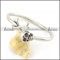 316l steel skull and cross bangle b001989