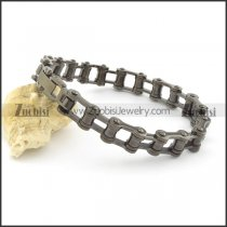 11mm wide black bicycle chain bracelet b002162