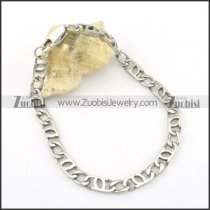 shiny 6mm silver stainless steel chain bracelet b002070