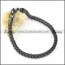 4.5mm wide square black chain bracelet b002069