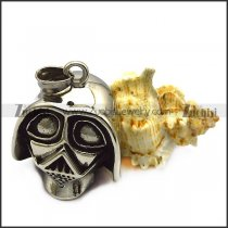 warrior mask pendant in stainless steel p007620