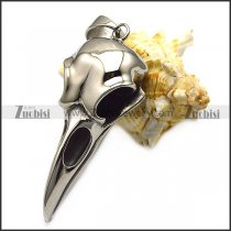 silver tone stainless steel raven pendant p007400