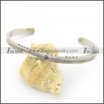 engraved LOVE YOU FOREVER bangle b002523