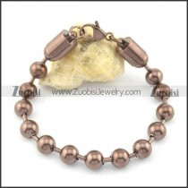 8mm wide coffee round ball chain bracelet b002371
