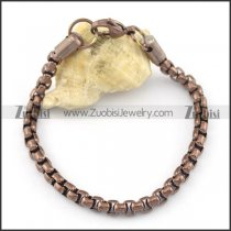 5mm wide brown corn chain bracelet b002370