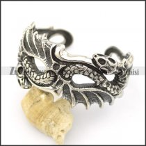 dragon and snake heads on both ends of bangle b002506