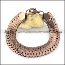 coffee tone big 15mm wide snake chain bracelet b002377