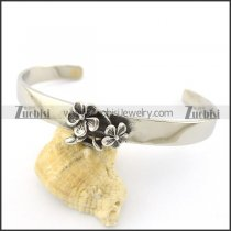 flower bangle in stainless steel b002300