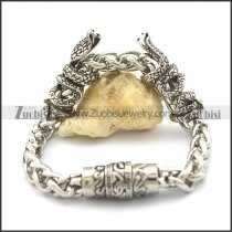 chain bracelet with 2 casting snakes closed by magnet buckle b002754