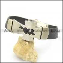 The Arrow Of Love Cross Rubber Bracelet b002981