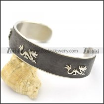 3 Dragons Black Leather Bangle b002994