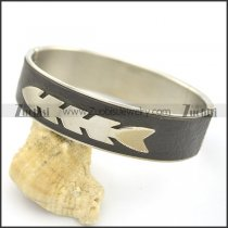 Fishbone Leather Bangle b002985