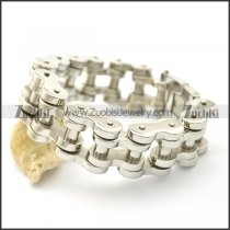 22mm Shiny Stainless Steel Bicycle Chain Bracelet b003073