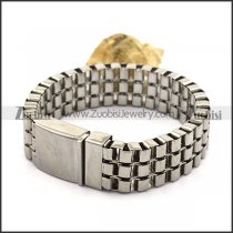 3 Layers Square Box Chains Bracelet with big Casting Buckle b003537