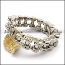 19mm Wide Heavy Stainless Steel Motor Bicycle Chain Bracelet b003580