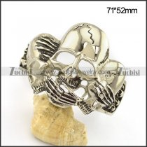 Three Skull Heads Bangle for Strong Mens b004048