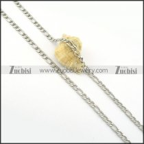 practical noncorrosive steel Necklace -n000286