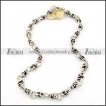 26 Small 3D Skull Stainless Steel Necklace -n000199