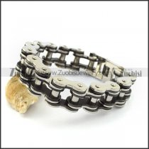 20MM Large Bicycle Chain Bracelet with 1 Black in the middle b004126
